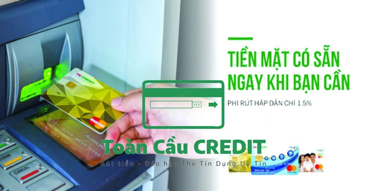 Rút tiền thẻ tín dụng Sacombank